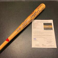 Mint Hall Of Fame Signed Bat Ted Williams Sandy Koufax Hank Aaron 25 Sigs JSA