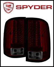 Spyder GMC Sierra 07 13 LED Tail Lights Red Smke