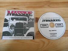 CD Metal Massive - Full Throttle (11 Song) Promo EARACHE REC
