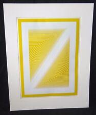 "1972 New York Print 140/200 ""Yellow Opt Art"" by Richard Anuszkiewicz (Mim)"