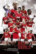 SOCCER POSTER Manchester United Red Devils