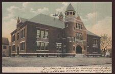Postcard LEWISTON Maine/ME  Oak Street School Campus Building view 1906