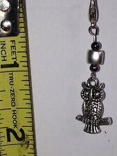 Owl Zipper, Lanyard, Keychain Or Bracelet Charm. 043