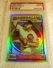 MIKE MORGAN 1993 TOPPS FINEST REFRACTOR PARALLEL #188 PSA 9 MINT VERY RARE CUBS