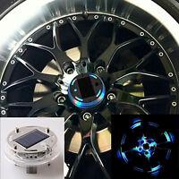 RGB 4 Mode 12 LED Car Auto Solar Energy Flash Wheel Tire Light Lamp Decor Set