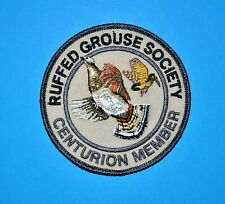 Ruffed Grouse Society Patch CENTURION Upland Bird, Woodcock hunting conservation