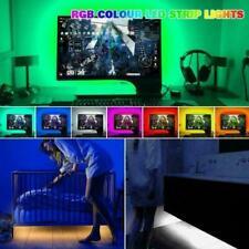2M 5V USB LED Strip Light SMD5050 RGB Waterproof IR Remote Controller TV PC Back