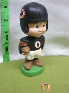 CHICAGO BEARS hand-painted football player 1980s kitschy plastic decoration