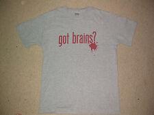 Tengo cerebros camiseta Medio M Walking Dead Movie skate punk emo de televisión de zombies SXE hxc