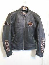 VINTAGE HARLEY DAVIDSON HEAVY LEATHER MOTORCYCLE JACKET SIZE L