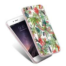 Red Flowers Plants Painting Ultra Thin Phone Case Capa for iPhone Samsung Huawei