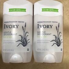 (2) Packs Ivory Gentle Aluminum Free Deodorant Hint of Aloe, 2.4 oz Each