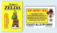 1989 Nintendo Game Pack Topps Sticker Card #32 The Legend Of Zelda