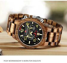Orologio in vero legno 48mm water resistent con scatola - NUOVO - Wood Watch