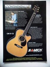 PUBLICITE-ADVERTISING :  Guitare SAMICK Continental Greg Bennett OM8CE  12/2002