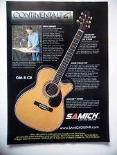 PUBLICITE-ADVERTISING :  Guitare SAMICK Continental Greg Bennett OM8CE  12/2002