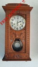 0306 - Antique German Junghans  Westminster chime wall clock