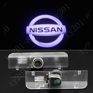 4pcs White 3D LED Door Courtesy Laser Ghost Shadow Projector Light HD For Nissan