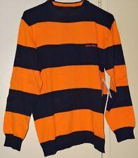 Calvin Klein Jeans Boys Blue Orange Striped Size XL Sweater Pullover NWT NEW