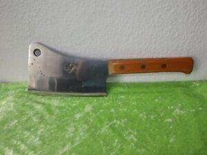 Altes Metzgerbeil Fleischerbeil Hackmesser Spalter Küchenbeil gemarktet