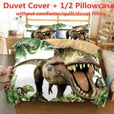 3D Jurassic Dinosaur Duvet Quilt Cover Set Kids Duvet Cover Bedding Set All Size