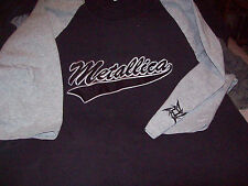Vintage METALLICA Star Logo Embroidered 3/4 Sleeve Baseball Tee T SHIRT size XL