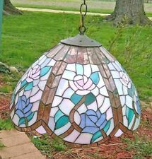 Meyda Tiffany Hanging Lamp Floral Design see photos for dimensions