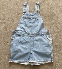 Topshop maternity dungarees size 10 Moto denim shorts pale blue