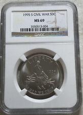 1995 S Civil War Commemorative Half Dollar NGC MS 69