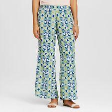 Women's Flora by RockFlowerpaper Palazzo Pants dress bottoms Green Blue Size XL