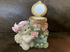 Dreamsicles Pink Roses Birdhouse 10771 1998 Angel Collectible Figurine Trinket
