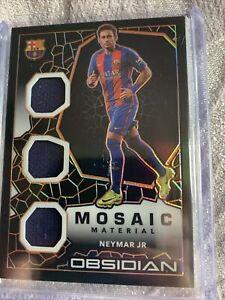 2021 Obsidian Neymar JR Triple Patch Mosaic Material /50 Player Worn Barcelona