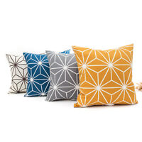 "18 x 18"" Geometric Abstraction Sofa Throw Cushion Cover Polyester Pillow Case"