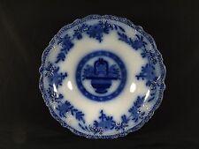 "RARE J.KENT TRUE FLOW BLUE ""BRUGGE"" SERVING BOWL BEAUTIFUL FLOW 1870'S ERA"