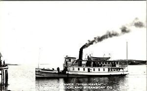 MAINE VINALHAVEN & ROCKLAND STEAMBOAT COMPANY BOAT VINTAGE PHOTO POSTCARD VIEW