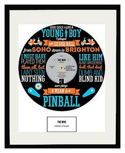 THE WHO - MEMORABILIA - Framed Art Poster - Limited Edition - Ideal Gift