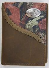 ZEP-PRO Arkansas Razorback  Fence Row Camo Leather Trifold Wallet Tin Gift Box
