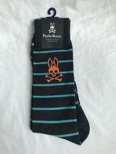 New Psycho Bunny Men's Thin Striped Dress Socks, Mult. Colors, One Size Fits All