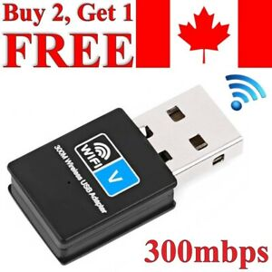 USB WiFi Adapter Wireless Network Internet Dongle 300Mbps Windows MAC Linux