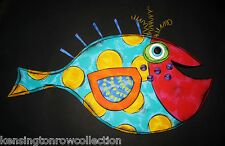 WALL ART - FANCIFUL FISH WALL SCULPTURE - POLKA DOT FISH