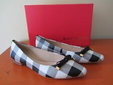 Kate Spade New York - Emma Flats - Size 7.5 - Black White Gingham Nappa - NEW