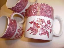 3 SPODE  Camilla Pink (Cranberry) Mugs  BRAND NEW Discontinued