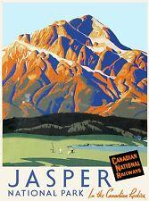 Jasper National Park Canadian Rockies Canada Travel Advertisement Poster