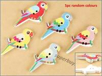 5pcs Assorted Bird White Back Button 2 Holes Mixed Assorted Sewing Scrapbook