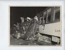 Vtg 1934 Los, Angeles Street Cars Accident photo Train Wreck Gramercy Third