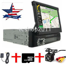 "1 DIN Single 7"" HD Touch Screen Car MP3/MP5 Bluetooth GPS Navigation with Camera"