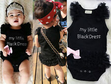 US SUMMER Infant Baby Girls Clothes Dress Lace Bodysuit Romper Outfits 80