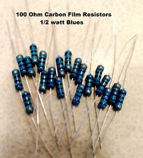100 Ohm 12watt Blue Carbon Film Resistors 5 You Get 20 Resistors