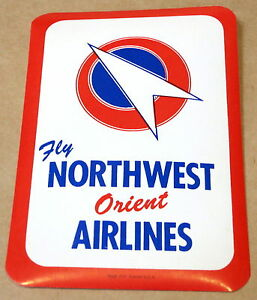 VINTAGE NORTHWEST ORIENT AIRLINES STICKER 1960s