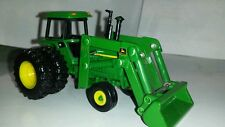 1/64 CUSTOM JOHN DEERE 4455 WITH DUALS AND JOHN DEERE LOADER ERTL FARM TOY